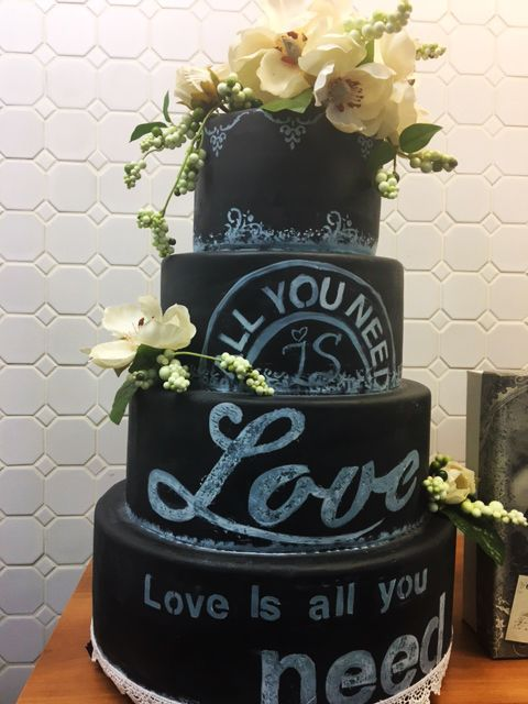 4 Tier Love Wedding Cake